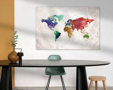 Artistic World Map II van Art Design Works