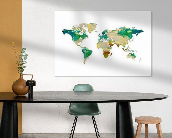 Sfeerimpressie: Artistic World Map I van Art Design Works