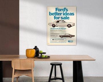 Vintage advertentie Ford 1967 van Jaap Ros