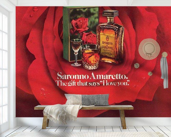 Beispiel fototapete: Werbung 1968 Saronno Amaretto von Jaap Ros