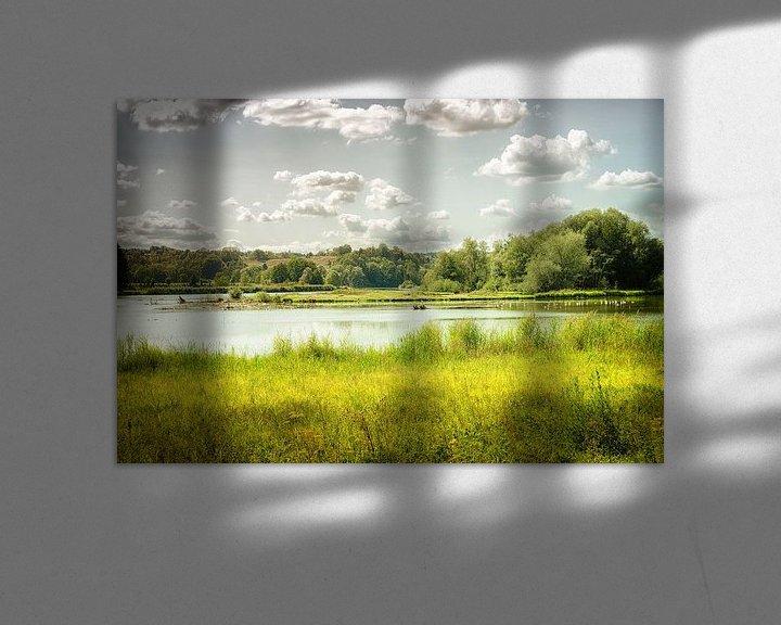 Beispiel: Flusslandschaft an der Reuss in der Schweiz von Nicc Koch