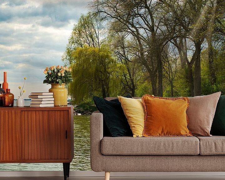 Sfeerimpressie behang: Landschap met prachtige kleuren elementen van Eric de Kuijper