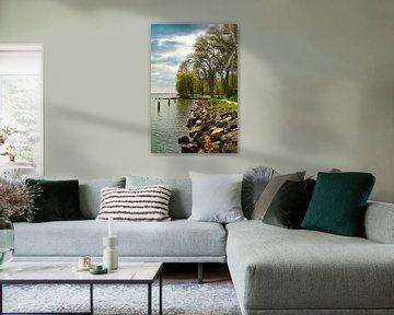 Landschap met prachtige kleuren elementen van Eric de Kuijper