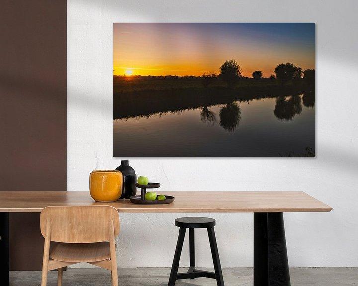 Impression: Zonsondergang in het gouden uur sur Eric de Kuijper