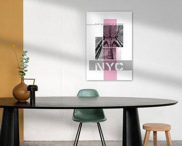 Poster Art NYC Brooklyn Bridge Details von Melanie Viola