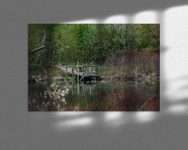 Sfeerimpressie: Houten bruggetje van Ingrid Aanen