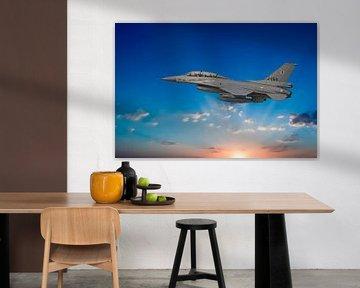 F-16 Fighting Falcon 2-seater van Gert Hilbink