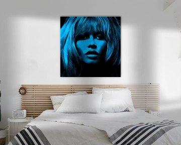 Motiv Brigitte Portrait Bardot - Neon Turkish von Felix von Altersheim
