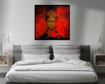 Motiv Frida - Orange - Frame 01 van Felix von Altersheim