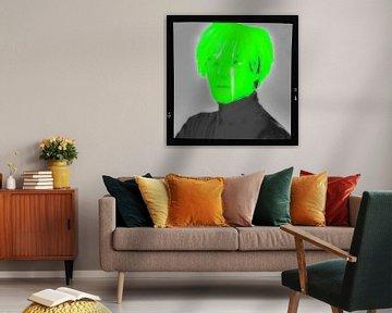 Motiv Porträt - Andy Warhol - Overdosis Neon Film Cut von Felix von Altersheim