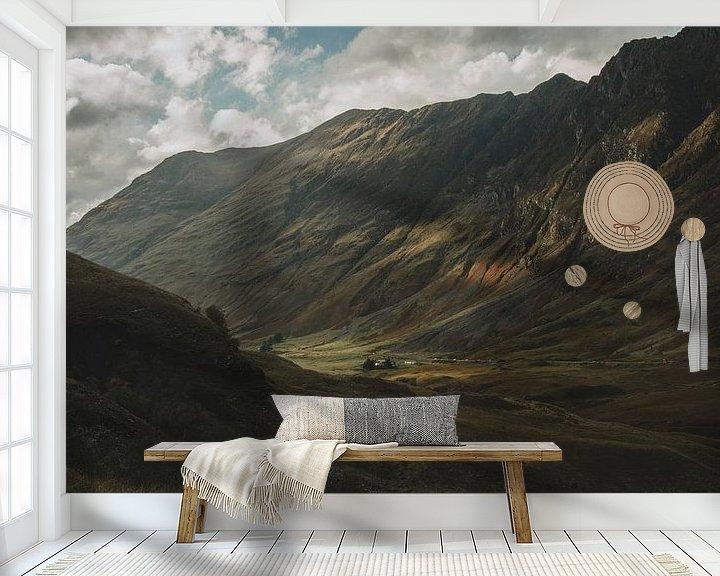 Beispiel fototapete: Glencoe Valley von Paulien van der Werf