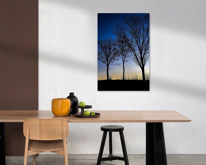 Sfeerimpressie: Drie zwarte bomen van Ulbe Spaans