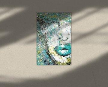 Blue Portret Paletmes schilderij von Dunja Paolo