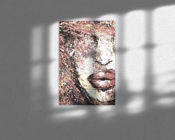 Soft color portret palette knife sur Dunja Paolo