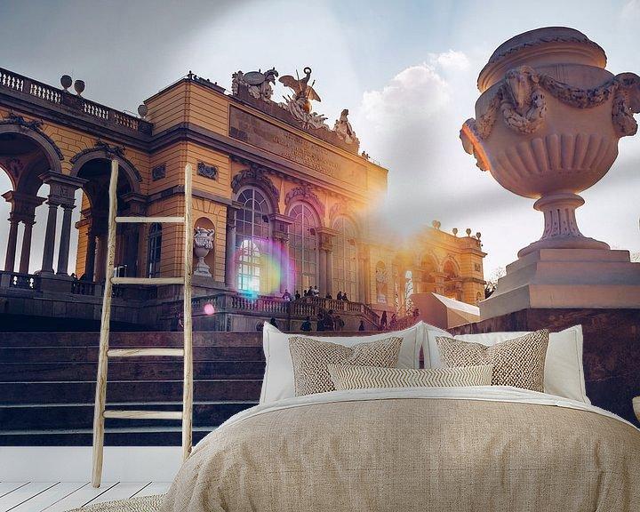 Sfeerimpressie behang: Vienna - Gloriette / Schonbrunn Palace van Alexander Voss