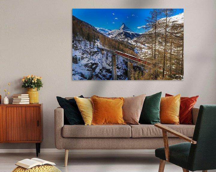 Impression: Viaduc sur le Findelbach avec vue sur le Cervin près de Zermatt sur Arthur Puls Photography