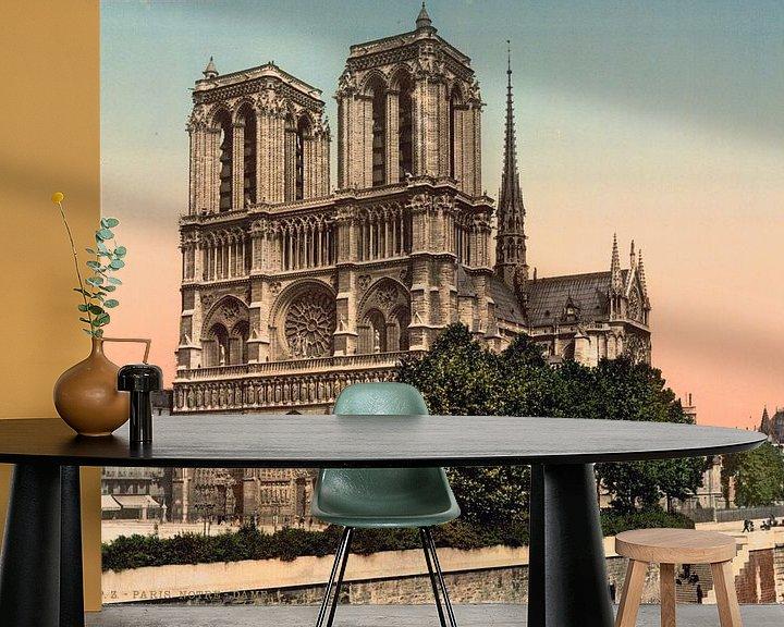 Beispiel fototapete: Notre Dame Paris (1890-1900) von Vintage Afbeeldingen
