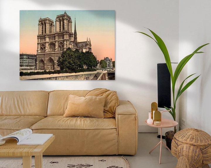 Beispiel: Notre Dame Paris (1890-1900) von Vintage Afbeeldingen