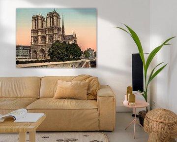 Notre Dame, Parijs van Vintage Afbeeldingen