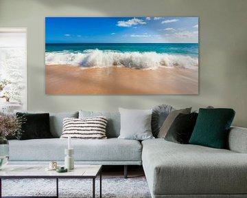 Strand aan de Algarve in Portugal van Werner Dieterich