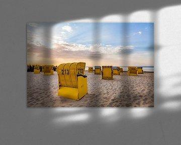 Strand aan de Noordzee in Cuxhaven van Werner Dieterich
