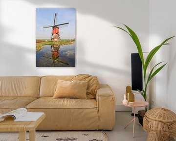 De Rooie Wip Windmühle in Hazerswoude von Charlene van Koesveld