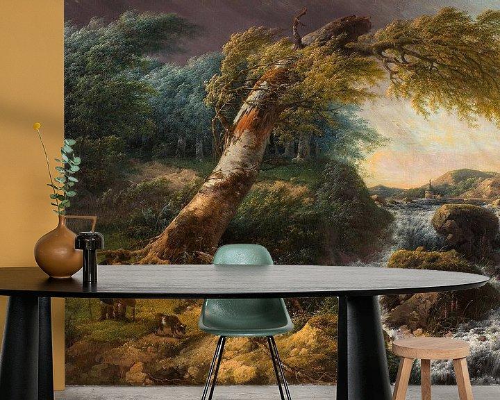 Beispiel fototapete: Stürmische Landschaft, Gerard van Nijmegen