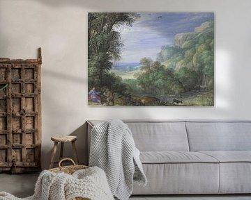 Landschaft mit der Versuchung Christi,Paulus Bril