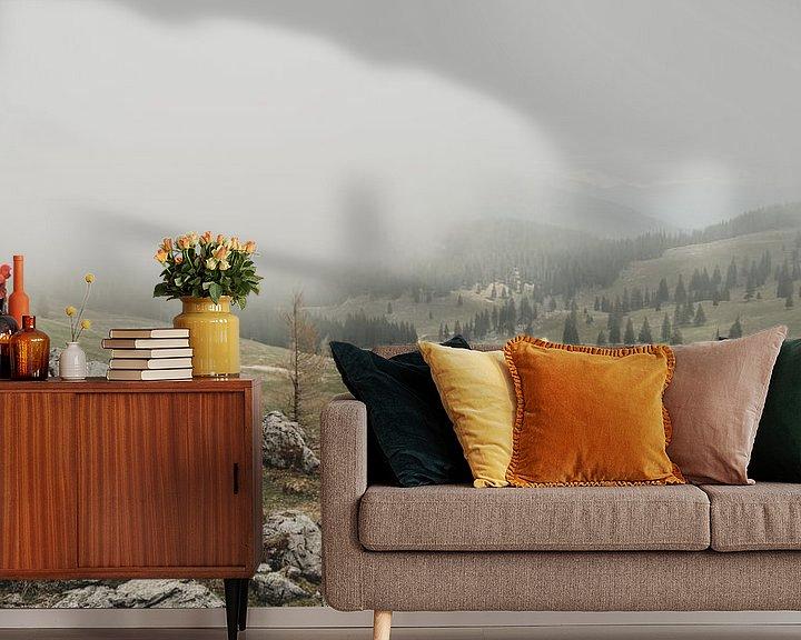 Beispiel fototapete: Mist über Velika Planina von Paulien van der Werf