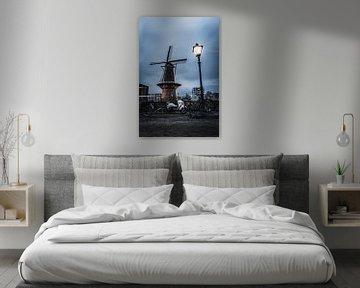 Windmühle in Delfshaven, Rotterdam von vedar cvetanovic