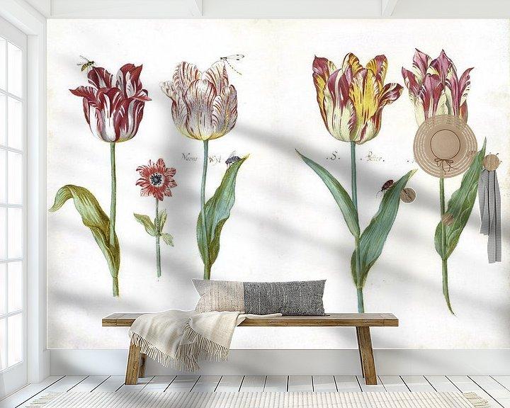 Beispiel fototapete: Blatt aus einem Tulpenbuch, Jacob Marrel