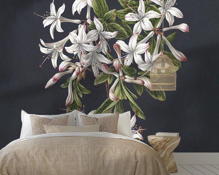 Beispiel fototapete: Zweig einer blühenden Azalee, M. de Gijselaar
