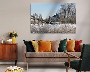 Boerderij in de sneeuw van Fotografie Fryslân