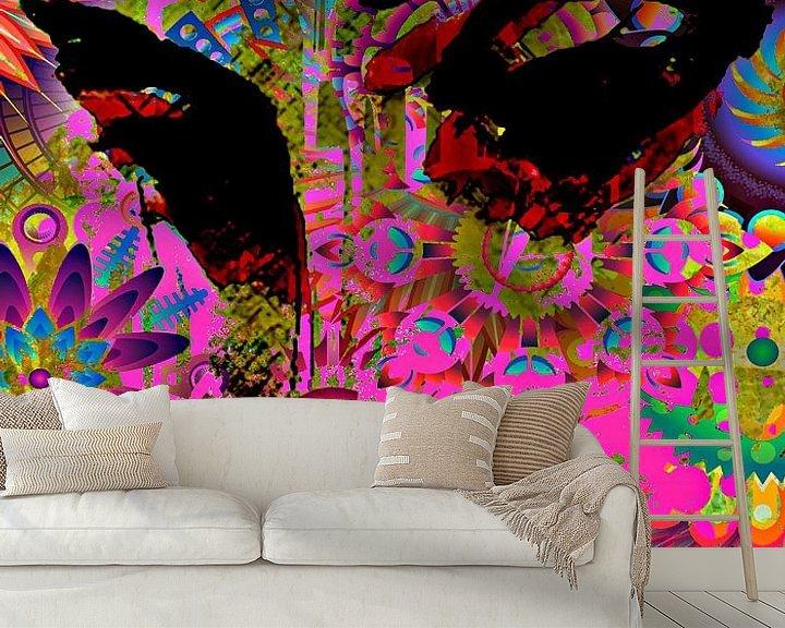 Beispiel fototapete: Flowerlady von PictureWork - Digital artist
