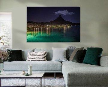 Bora Bora in de nacht van Ralf van de Veerdonk