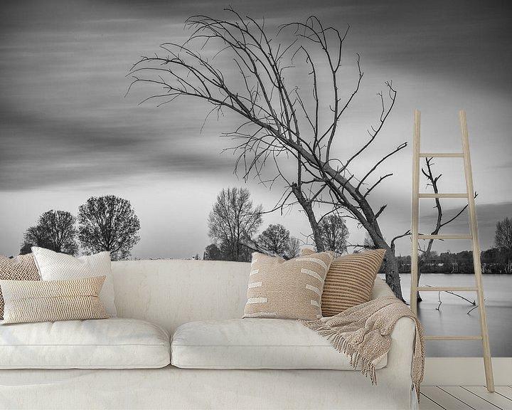 Impression: Dead tree in the water sur Jan van der Vlies