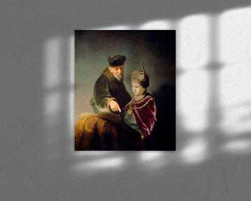 Ein junger Schüler und sein Lehrer Rembrandt
