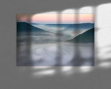 Nebeltal - Schwäbische Alb - im Morgengrauen von Jiri Viehmann