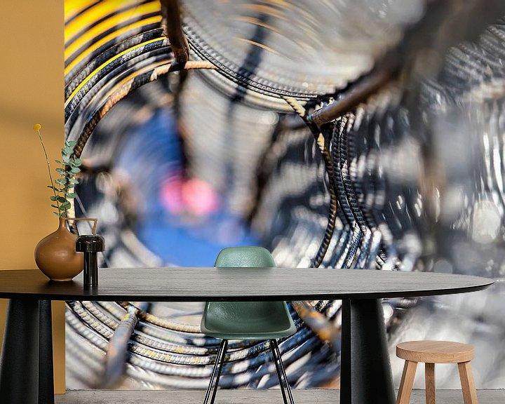 Sfeerimpressie behang: Wapeningsnet op een zonnige dag van Frans Blok