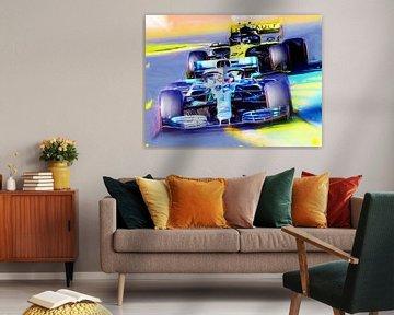 Lewis Hamilton #44 and Nico Hülkenberg #27 von Jean-Louis Glineur alias DeVerviers