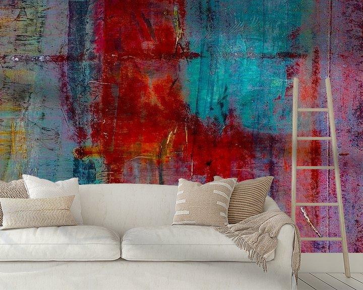 Sfeerimpressie behang: Abstracte Roest. van Leo Luijten