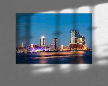 Deutschland, Hamburg, Stadtansicht, Elbe, Hafen, HafenCity, Elbphilharmonie, Elphi, Konzerthaus van Werner Dieterich