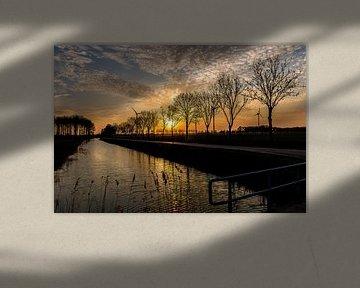 Soleil couchant près de Duiven