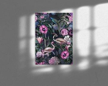 Flamingo Dschungel von Andrea Haase