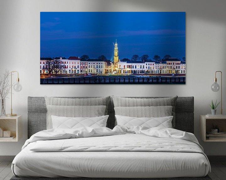 Sfeerimpressie: Hanzestad Zutphen in de avond van Martin Bergsma