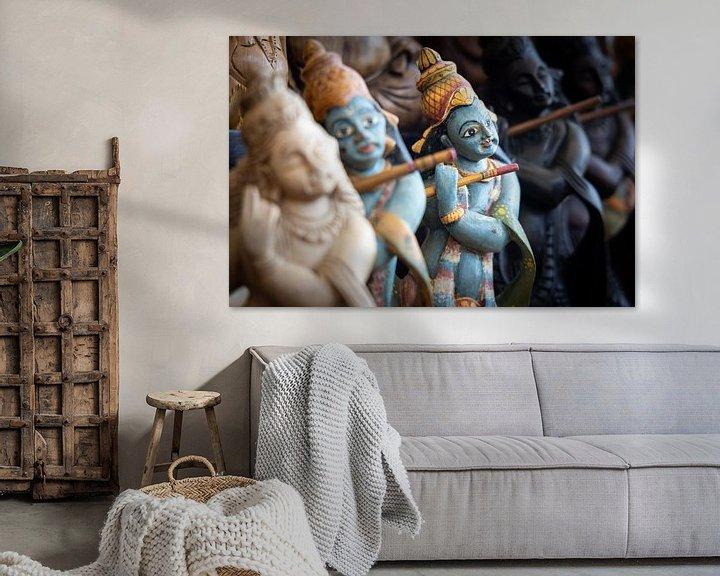 Sfeerimpressie: God Rama bespeelt fluit in souvenirwinkel van Eddie Meijer