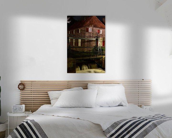 Sfeerimpressie: Een huisje en een stuw in Amersfoort van Gerard de Zwaan