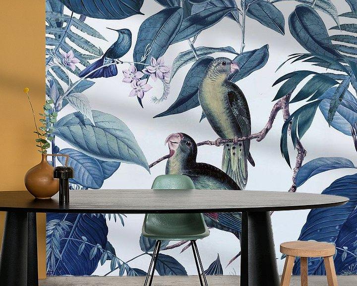 Sfeerimpressie behang: Jungle Blue Hour van Andrea Haase