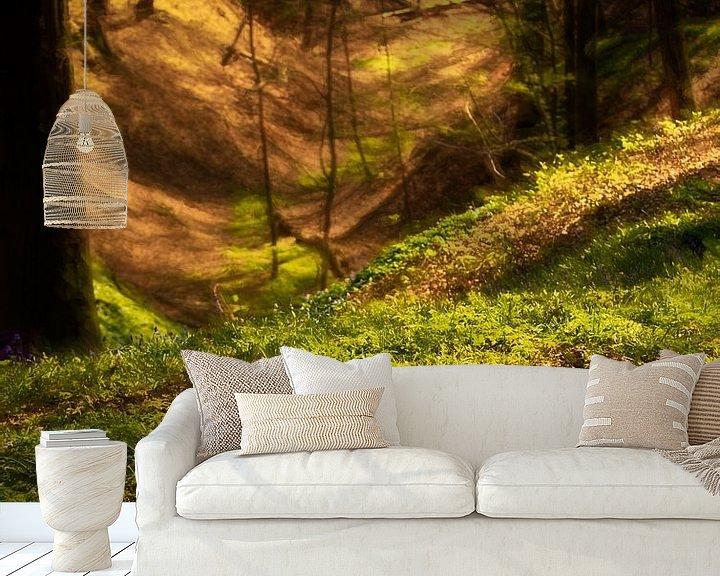 Sfeerimpressie behang: bosland van emiel schalck