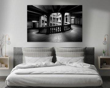 Parkhaus in schwarz und weiß von Kristof Ven